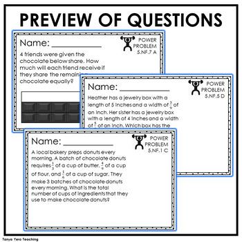5th Grade Word Problems | Test Prep YEARLONG BUNDLE | MATH SPIRAL REVIEW