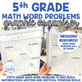 5th Grade Math Word Problems Graphic Organizer (Growing Resource)