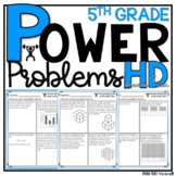5th Grade Math Word Problems | Test Prep YEARLONG BUNDLE | HOMEWORK