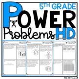 5th Grade Math Word Problems BUNDLE   HOMEWORK Distance Le