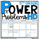 5th Grade Math Word Problems Homework Printables Math Word Problems Place Value