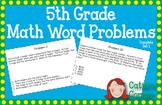 5th Grade Math Word Problems Set 1
