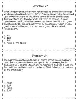 5th Grade Math Word Problems Set 2