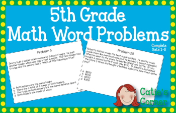 5th Grade Math Word Problems Sets 1-5