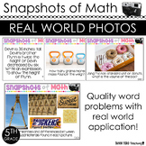 5th Grade Math Word Problems Using Photos in Math ALL STANDARDS TEST PREP