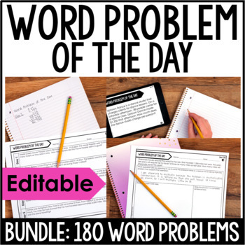 5th Grade Math Word Problems | Word Problem of the Day GROWING BUNDLE