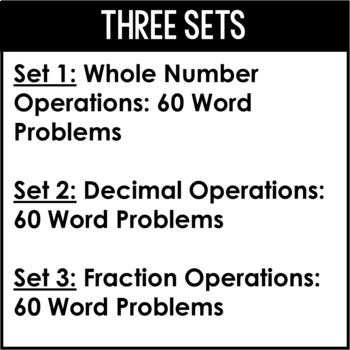 5th Grade Math Word Problems   Word Problem of the Day BUNDLE