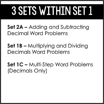 5th Grade Math Word Problems | Word Problem of the Day {Set 2: Decimals}