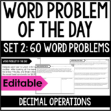 5th Grade Math Word Problems | Word Problem of the Day {Se
