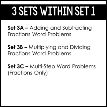 5th Grade Fraction Word Problems | Word Problem of the Day {Set 3: Fractions}