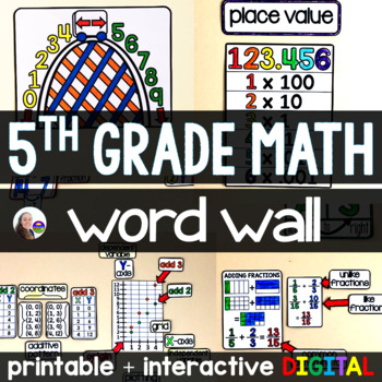 5th Grade Math Word Wall