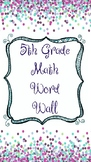 5th Grade Math Word Wall