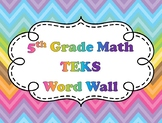 5th Grade Math Word Wall Vocabulary Cards