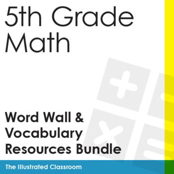 5th Grade Math Word Wall and Vocabulary Resource Bundle