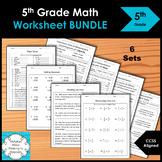 5th Grade Math Worksheet BUNDLE