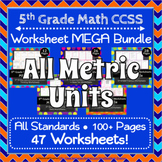 5th Grade Math Worksheets MEGA Bundle ⭐ ALL METRIC UNITS