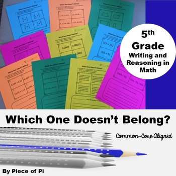 5th Grade Writing in Math Journaling Activities