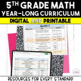 5th Grade Math Year-Long Curriculum Growing Bundle {Digita