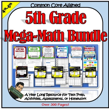 5th Grade Math Bundle 5NBT 5NF 5OA