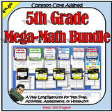 5th Grade Math Bundle 5NBT 5NF 5OA