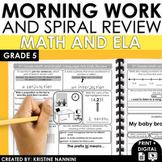 5th Grade Morning Work - Fifth Grade Math ELA Spiral Revie
