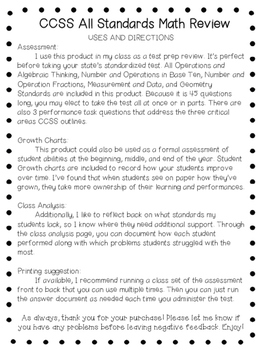 5th Grade Math and Reading Assessments - ALL CCSS Standards Test Prep Review
