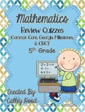 5th Grade Math Common Core  GA Milestones Review Quizzes Y