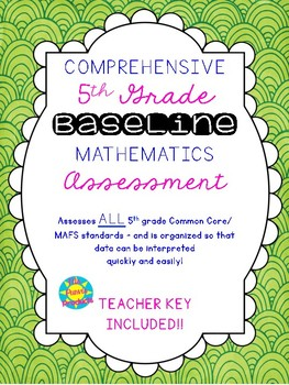 5th Grade Mathematics Baseline Assessment