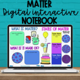 5th Grade Matter Digital Interactive Notebook - NC Science