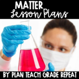 5th Grade Matter Lesson Plans - NC Essential Science Stand