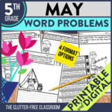 5th Grade May Word Problems printable and digital math activities