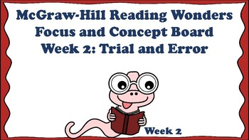 5th Grade McGraw Hill Reading Wonders Concept Focus Board Wall Unit 1 Week 2
