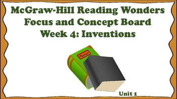 5th Grade McGraw Hill Reading Wonders Concept Focus Board Wall Unit 1 Week 4