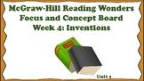 5th Grade McGraw Hill Reading Wonders Concept Focus Board