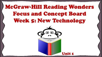 5th Grade McGraw Hill Reading Wonders Concept Focus Board Wall Unit 1 Week 5