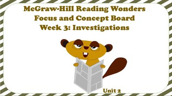 5th Grade McGraw Hill Reading Wonders Concept Focus Wall Unit 2 Week 3