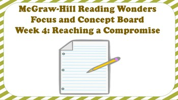5th Grade McGraw Hill Reading Wonders Concept Focus Wall Unit 2 Week 4