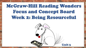 5th Grade McGraw Hill Reading Wonders Concept Focus Wall Unit 3 Week 2