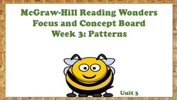 5th Grade McGraw Hill Reading Wonders Concept Focus Wall Unit 3 Week 3