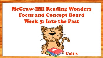 5th Grade McGraw Hill Reading Wonders Concept Focus Wall Unit 3 Week 5