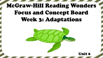 5th Grade McGraw Hill Reading Wonders Concept Focus Wall Unit 6 Week 3