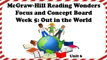 5th Grade McGraw Hill Reading Wonders Concept Focus Wall Unit 6 Week 5