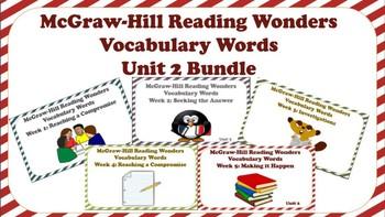 5th Grade McGraw Hill Wonders UNIT 2 MEGA BUNDLE Concept Focus Vocabulary Wall