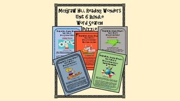 5th Grade McGraw Hill Wonders UNIT 6 MEGA BUNDLE Concept Focus Vocabulary Wall