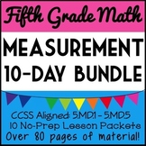 5th Grade Measurement Bundle, 10-Day Unit: Volume, Line Plots, Unit Conversions