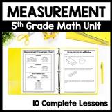 5th Grade Measurement Bundle, 10-Day Unit: Volume, Line Pl