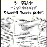 5th Grade Measurement Conversion 5.MD.A.1 Student Guided Notes