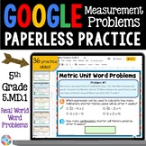 5th Grade Measurement Conversion Word Problems Google Classroom Math {5.MD.1}