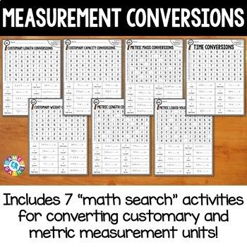 5th Grade Measurement Conversions Math Search {5.MD.1}