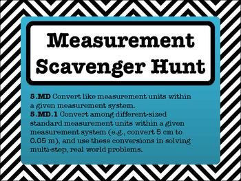 5th Grade Measurement Conversions Scavenger Hunt